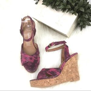 Jeffrey Campbell Cork Wedge Leather Sandals 7.5